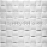 Samolepící pěnové 3D panely rozměr 69,5 x 69,5 cm, 3D plaid bílý