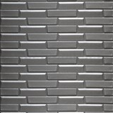 Samolepící pěnové 3D panely rozměr 77 x 69 cm, 3D moderní cihla tmavě šedá
