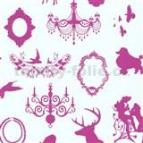 Dětské tapety Playground - barokní design - růžový - SLEVA