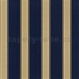 Tapety na ze� Poison modro-zlat� pruhy - SLEVA