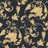 Tapety na ze� Poison - z�meck� vzor - zlat� - modr� podklad