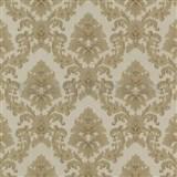 Vinylové tapety barokní vzor zlatý na světle hnědém podkladu MEGA SLEVA