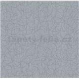 Vliesové tapety na zeď Polar curls tmavě šedý se stříbrným vzorem - POSLEDNÍ KUSY