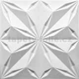 3D panel XPS hvězda bílá rozměr 500 x 500 mm