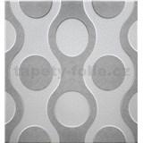 3D panel XPS CHAINS šedý rozměr 50 x 50 cm