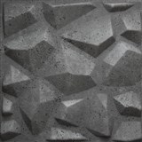 3D panel XPS Mars beton šedý rozměr 50 x 50 cm