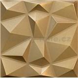 3D panel XPS DIAMANT zlatý 50 x 50 cm