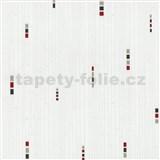 Vliesové tapety na zeď Pure and Easy geometrické kostky šedo-červené