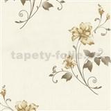 Vliesové tapety na zeď Pure and Easy květy světle hnědé