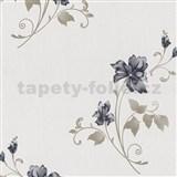 Vliesové tapety na zeď Pure and Easy květy modré