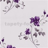 Vliesové tapety na zeď Pure and Easy květy fialové