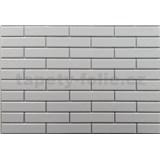 Obkladové 3D PVC panely rozměr 440 x 580 mm malá cihla bílá se stříbrnou spárou