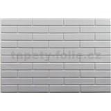 Obkladové 3D PVC panely rozměr 440 x 580 mm malá cihla bílá s bílou spárou