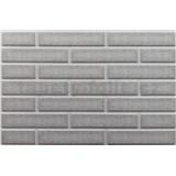 Obkladové 3D PVC panely rozměr 440 x 580 mm cihla světle šedá s bílou spárou