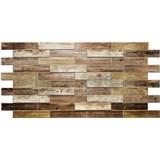 Obkladové 3D PVC panely rozměr 980 x 480 mm dřevěný obklad dub holandský