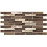 Obkladové 3D PVC panely rozměr 980 x 480 mm dřevěný obklad dub Toffee