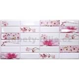 Obkladové 3D PVC panely rozměr 955 x 480 mm květy sakury
