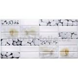 Obkladové 3D PVC panely rozměr 955 x 480 mm mušle a kameny