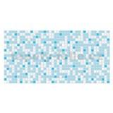 Obkladové 3D PVC panely rozměr 955 x 480 mm mozaika světle modrá