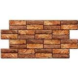 Obkladové 3D PVC panely rozměr 955 x 476 mm, tloušťka 0,5 mm, obkladový kámen přírodní