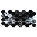 Obkladové 3D PVC panely rozměr 973 x 492 mm, tloušťka 0,2 mm, černo-bílý Floral