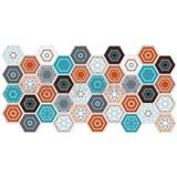 Obkladové 3D PVC panely rozměr 973 x 492 mm, tloušťka 0,2 mm, hexagon moderní Patchwork