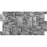 Obkladové 3D PVC panely rozměr 980 x 490 x 0,3 mm ukládaný kámen přírodní šedý