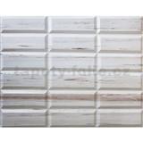Obkladové 3D PVC panely rozměr 440 x 580 mm obklad krémový dekor Travertin
