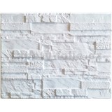 Obkladové 3D PVC panely rozměr 440 x 580 mm ukládaný kámen bílý