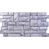 Obkladové 3D PVC panely rozměr 977 x 493 mm, tloušťka 0,4mm, břidlice šedá s černou spárou