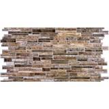 Obkladové 3D PVC panely rozměr 980 x 489 mm, tloušťka 0,4mm, ukládaný kámen hnědý