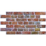 Obkladové 3D PVC panely rozměr 951 x 495 mm, tloušťka 0,4mm, cihla červená s patinou