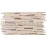Obkladové 3D PVC panely rozměr 953 x 478 mm, tloušťka 0,4mm, ukládané dubové dřevo