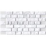 Obkladové 3D PVC panely rozměr 951 x 495 mm, tloušťka 0,4mm, cihla bílá