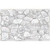 Obkladové 3D PVC panely rozměr 984 x 633 mm, tloušťka 0,6mm, ukládaný kámen šedý