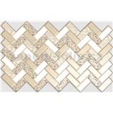 Obkladové 3D PVC panely rozměr 992 x 629 mm, tloušťka 0,6mm, obklad bílo-zlatý s růžemi