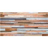 Obkladové 3D PVC panely rozměr 957 x 480 mm, tloušťka 0,4mm, barevné dřevo s patinou