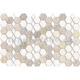 Obkladové 3D PVC panely rozměr 966 x 645 mm, tloušťka 0,6mm, hexagon bílo-karamelový