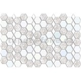 Obkladové 3D PVC panely rozměr 966 x 645 mm, tloušťka 0,6mm, hexagon bílo-šedý