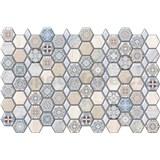 Obkladové 3D PVC panely rozměr 966 x 645 mm, tloušťka 0,6mm, hexagon Maroccan - POSLEDNÍ KUSY