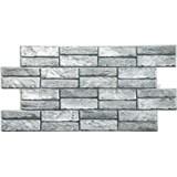 Obkladové 3D PVC panely rozměr 955 x 476 mm kámen šedý