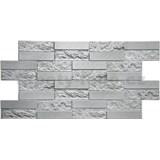 Obkladové 3D PVC panely rozměr 980 x 490 mm pískovcový kámen šedý