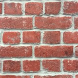 Papírové tapety na zeď cihla červená