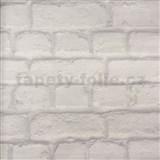 Papírové tapety na zeď cihlová zeď šedá
