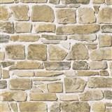 Papírové tapety na zeď kámen hnědý