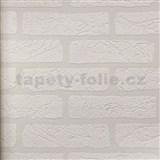 Vinylové tapety na zeď 3D cihla bílá