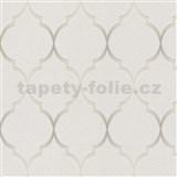 Vliesové tapety na zeď Collection 2 zámecký vzor stříbrný na šedém podkladu