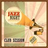 Retro cedule Jazz Night 30 x 30cm - POSLEDNÍ KUSY