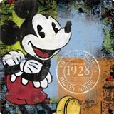Retro cedule Mickey Mouse 30 x 30 cm