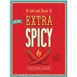 Retro cedule Extra Spicy Hot and Fresh 40 x 30 cm